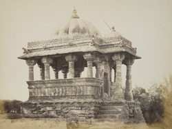 General view of Jain chhatri at Mundra, Kachch